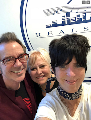 With Lindsay Tomasic and hit songwriter Diane Warren
